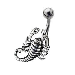 Piercing ombligo escorpión sencillo A (20)