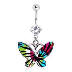 Piercing ombligo mariposa colorido características negros (24)
