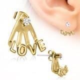 piercing oreja original 25 - Gold IP love