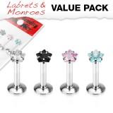 Pack de micro-labrets 17 - cristales estrella