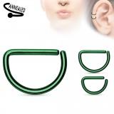 Piercing septum ou helix 67 - PVD verde