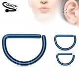 Piercing septum ou helix 73 - PVD azul