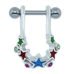 Piercing helix 02 - estrella coloridoes