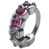 Piercing helix 93 - anillo multistrass rosas rojos