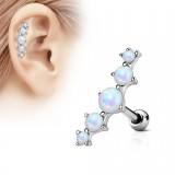 Piercing helix 133 - Opalite cinco perlas