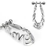 Piercing helix 50 - escudo love
