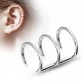 Falso-piercing oreja 02 - Triple anillo