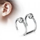 Falso-piercing oreja 03 - Doble anillo bola
