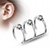 Falso-piercing oreja 04 - Triple anillo bola
