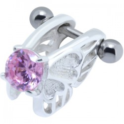 Piercing helix 03 - angel zircona rosa