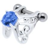 Piercing helix 06 - zircona azul