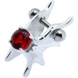 Piercing helix 59 - zircona rojo