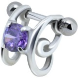Piercing helix 75 - zircona púrpura