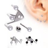 piercing oreja original 21 - tres perlas
