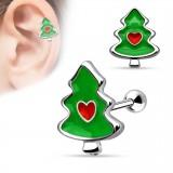 Piercing helix, tragus Arbol de navidad (3)