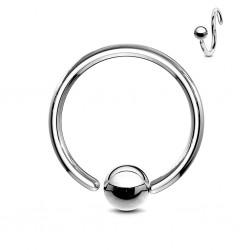 Piercing anillo 1,6mm 06 - Bola borde adjunto