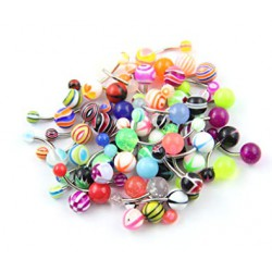 Lote de 50 piercings ombligo acrílicos