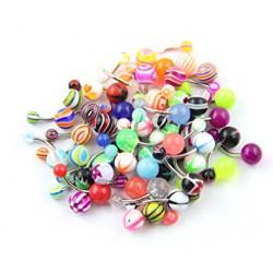 Lote de 25 piercings ombligo acrílicos