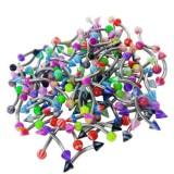Lote de 100 piercings ceja acrílicos