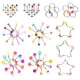 Lote de 100 piercings mélanges de estilos