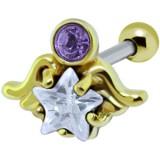 cartílago helix, tragus 196 - chapado-oro ange