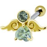 cartílago helix, tragus 195 - chapado-oro ange