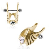 Piercing helix 104 - ala gold IP
