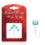 Pack de micro-labrets 01 - cristales azul claro