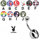 Piercing ombligo logo Playboy A