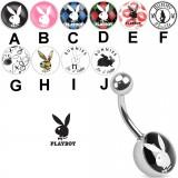 Piercing ombligo logo Playboy B