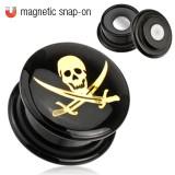Plug acrílico magnétique pirata
