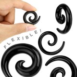 Spirale silicona flexible black