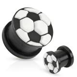 Plug silicona negro y blanco football