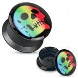 Plug acrílico desatornillado cráneo multicolore