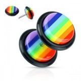 Falso-expender acrílico 03 - Gay-pride