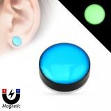 Faux-plug magnétique fluo azul (1)