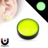 Faux-plug magnétique fluo verde (2)