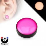 Faux-plug magnétique fluo rosa (3)