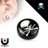 Faux-plug magnétique cabeza de la muerte (5)