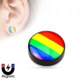 Faux-plug magnétique gay-pride (8)