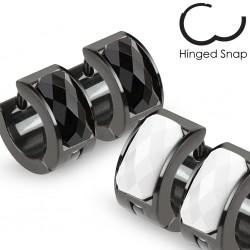 Anillos de oreja acero 06 - negro zircona