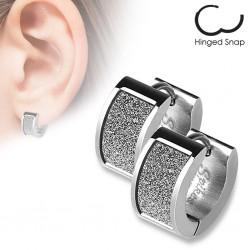 Anillos de oreja acero 02 - satén gris