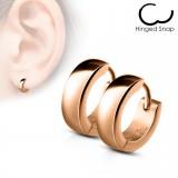 Anillos de oreja acero 66 - sencillo Gold-ip rosa