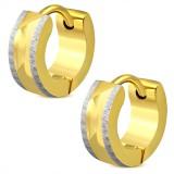 Anillos de oreja acero 91 - pequeño gold-ip y satén