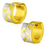 Anillos de oreja acero 42 - Gold ip grisé
