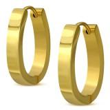 Anillos de oreja acero 50 - Gold ip ovale