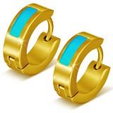 Anillos de oreja acero 115 - Gold ip característica azul