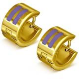 Anillos de oreja acero 119 - Gold ip dos características