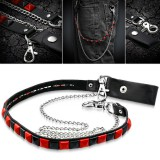 Cadena de jean 04 - negro y rojo