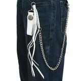 Cadena de jean 08 - cuero blanco